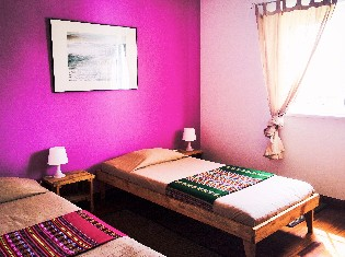 Shared Twin Room at Omassim Guesthouse