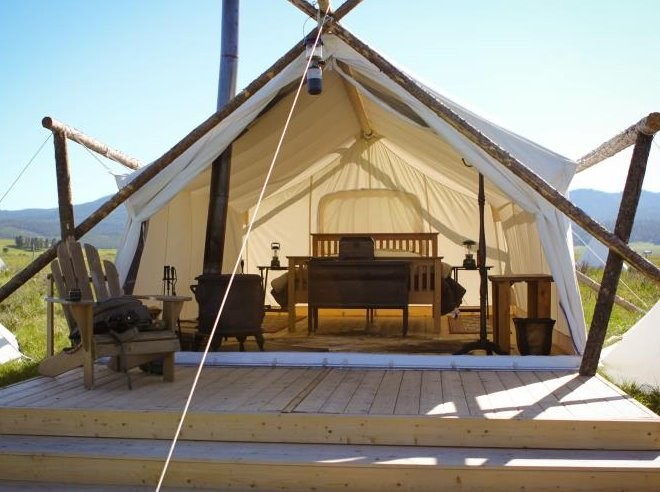 Deluxe Tent at Moab Under Canvas